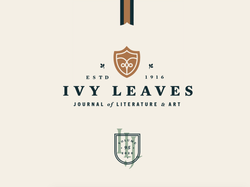Ivy Leaves Brand Refresh Elements journal student publication badge