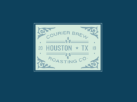 Courier Brew Badge