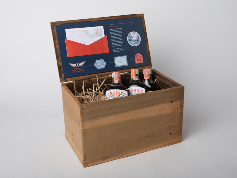 Courier Brew : Cold Brew Subscription Shipping Box illustraion shipping box packaging