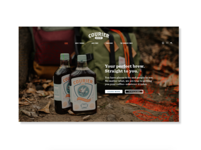 Courier Brew Landing Page