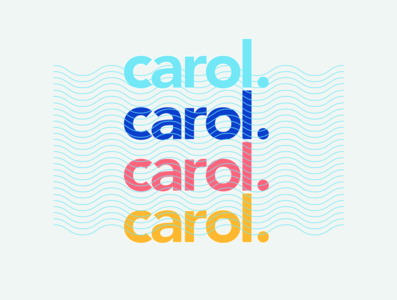 Carol. Personal Trainer logo fitness trainer brand identity