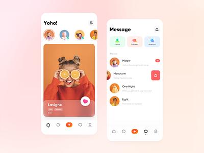 Design of a social matching APP logo branding typography icon design ux ui app