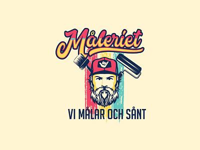 Maleriet painter logo hipster