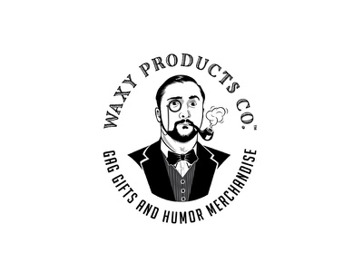 Waxy Products illustrated face merchandise humor