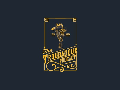 The Troubadour Podcast podcast music country logo