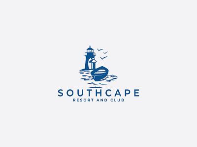 Southcape boat lighthouse southcape illustration cape cod resort logo