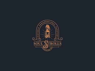 Soul Strolls (Unused proposal) lantern logo vintage illustration