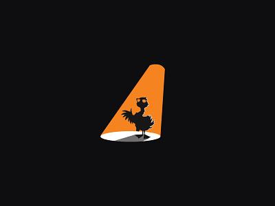 Goose light spot animal illustration design logo