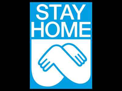 Stay Home Poster visual communication poster art digital poster print design type visual design affiche typography poster typography design poster design plakat poster big type one color typography illustrator graphic design design helvetica covid-19