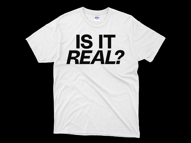 Is It Real? filippos fragkogiannis polysanstypeface typeface polysans big type only type milos mitrovic gradient type black and white tshirtdesign tshirt experimental experimental typography print print design visual art typography visual communication type design