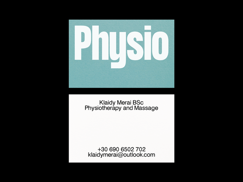 Physiotherapist & Masseur Business Card massage physiotherapist graphic design mgopen moderna mgopen moderna haettenschweiler visual identity visual design business cards business card design business card print illustrator print design visual art typography design visual communication type