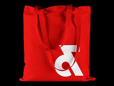 Associates Tote Bag tote bags bag design red and white design studio designer branding associates white red tote bag typeface typography design studio filippos fragkogiannis graphic design experimental typography visual design visual communication filippos fragkogiannis design typography