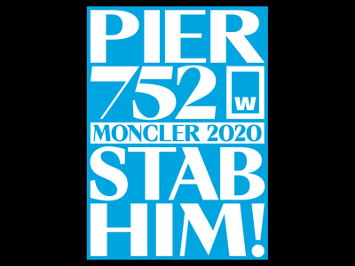 Moncler by W Type Foundry moncler typeface poster designer typography poster poster design poster white cyan david suid w type foundry type foundries type type foundry typography design studio filippos fragkogiannis graphic design visual design visual communication filippos fragkogiannis design typography