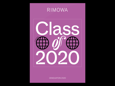 RIMOWA Graduation 2020 brand design brand white purple product design product typography art commission sticker design stickers sticker rimowa typography design studio filippos fragkogiannis graphic design visual design visual communication filippos fragkogiannis design typography