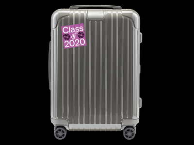 RIMOWA Graduation 2020 merchandise 2020 design 2020 class black white purple stickers sticker design rimowa sticker sticker illustrator typography design studio filippos fragkogiannis graphic design visual design visual communication filippos fragkogiannis design typography