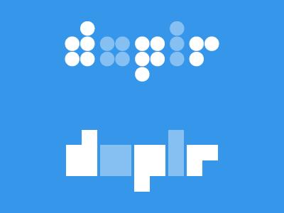 Doplr logo studies branding logo experiment