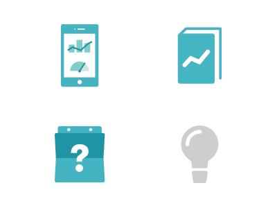 Icons light bulb idea calendar value manual mobile icon