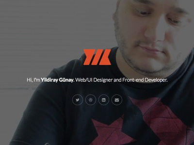 Personal website update (temporary) personal website portfolio yildiray web design designer front end developer