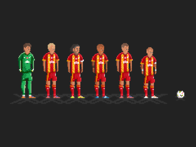 Galatasaray fourth star Heroes pixel art fernando muslera semih kaya selcuk inan felipe melo burak yilmaz wesley sneijder pixel art lig super art pixel galatasaray