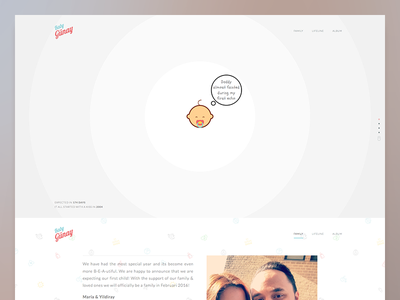 Landing page live :: We're expecting!! landing page pregnancy website landing baby expecting pregnant