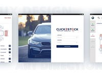 Click 2 Stock app - UX & Art direction