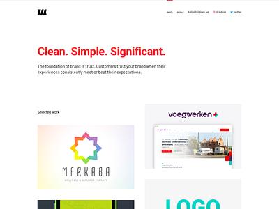 New personal website ux portfolio site logo typography ui landing website design