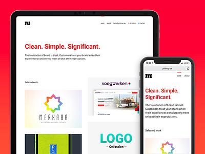New personal website typography portfolio landing page ui landing website