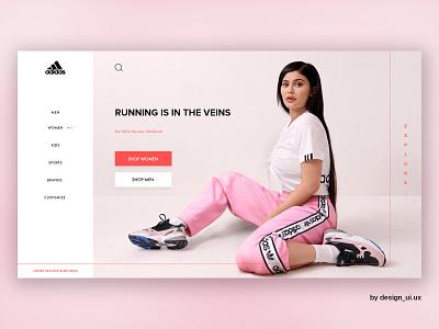 Adidas Website Redesign adidas originals flat webdesign ui ux design