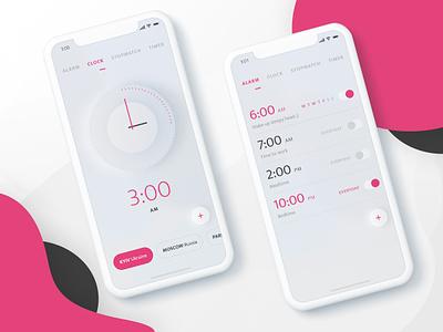 Clock App Design alarm clock ios app appdesign app