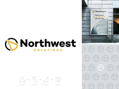 Northwest Solutions typography logo type flat animation brand icon branding vector design art vector art minimal illustration