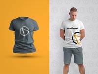 Northwest Solutions T-shirt Design logo flat icon branding vector design art vector art minimal illustration