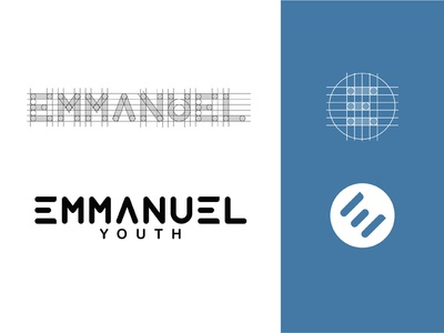 Emmanuel Youth icon design tyopgraphy guides church vector illustration brand branding logo