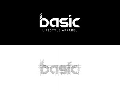 Basic Lifestyle Apparel lettering logo design brand typography vector art branding art illustration