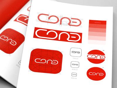 CORE (Crawlspace & Outdoor Residential Experts) golden ratio icon app gradient illustration church logo vector art logo branding
