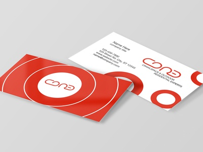 Core - Business Cards red circle artist art vector minimal business cards branding