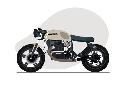 1980 Honda CX500-D Cafe Racer icon flat animation ux ui design vector minimal art vector art illustration
