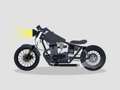 1986 Honda Rebel website web animation ux ui type gradient design brand vector art vector art icon illustration