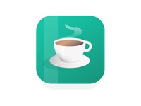 Coffee App Icon Design