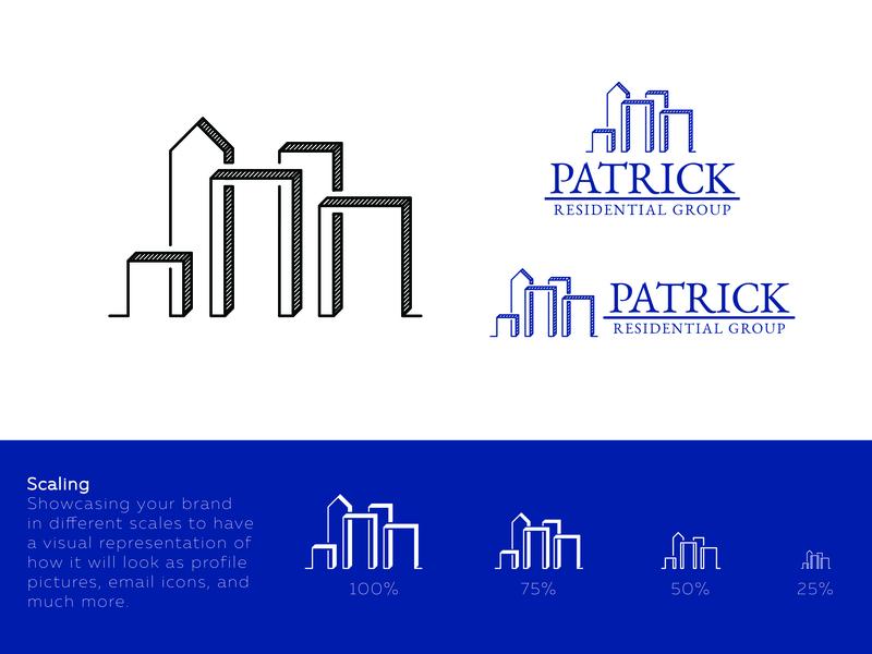 Patrick Residential Group - Branding Project flat typography app design brand minimal art vector art branding icon illustration