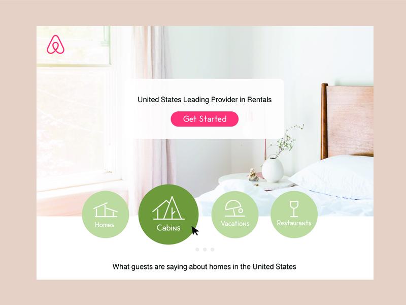 Airbnb Landing Page website web ux ui typography type design brand minimal art vector art icon illustration