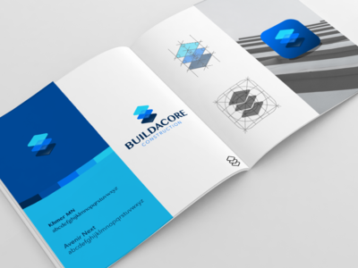 Buildacore Branding Presentation vector art minimal presentation illustration graphic design ui ux branding logo