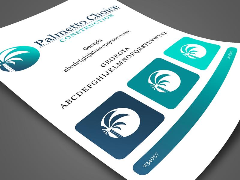 Palmetto Choice Branding Project type illustrator lettering flat typography logo vector design brand art minimal vector art branding icon illustration