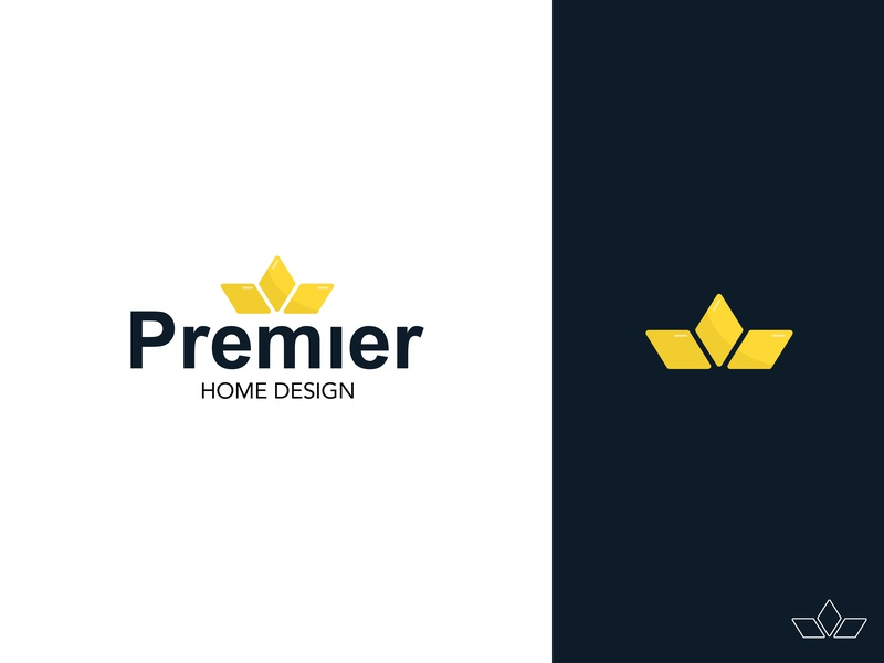 Premier Home Design type character clean identity illustrator gradient lettering flat typography logo vector design brand art minimal vector art icon branding illustration