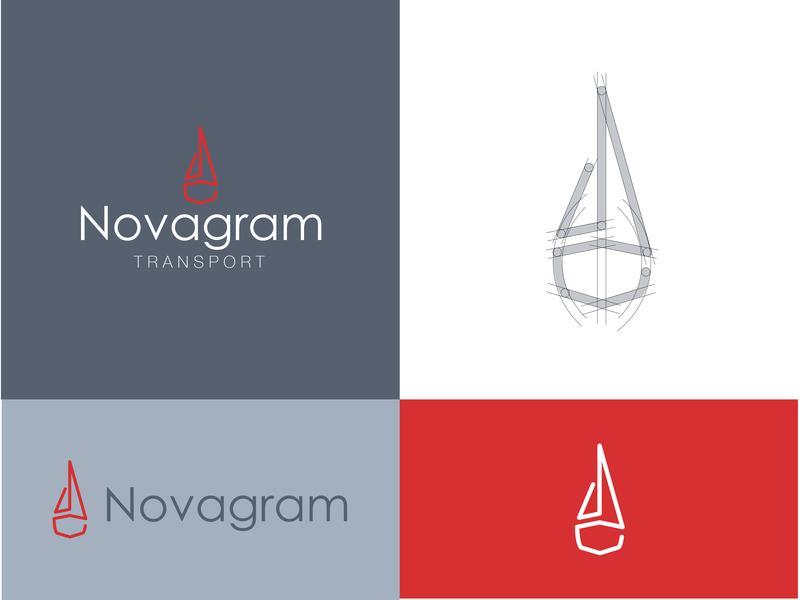 Novagram Transport art clean identity lettering gradient typography type logo brand vector design branding minimal illustration vector art icon