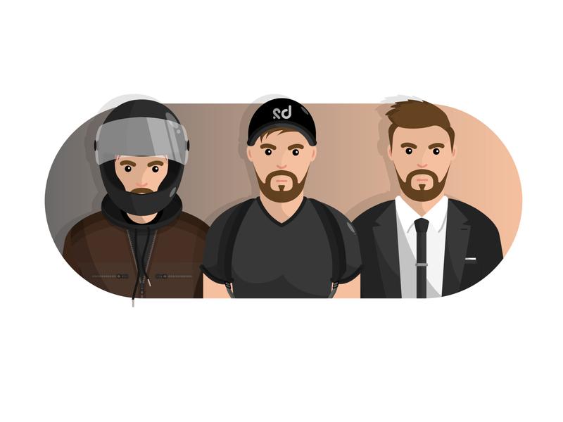 Personal Avatars business hiking motorcycles avatar design art minimal vector art illustration
