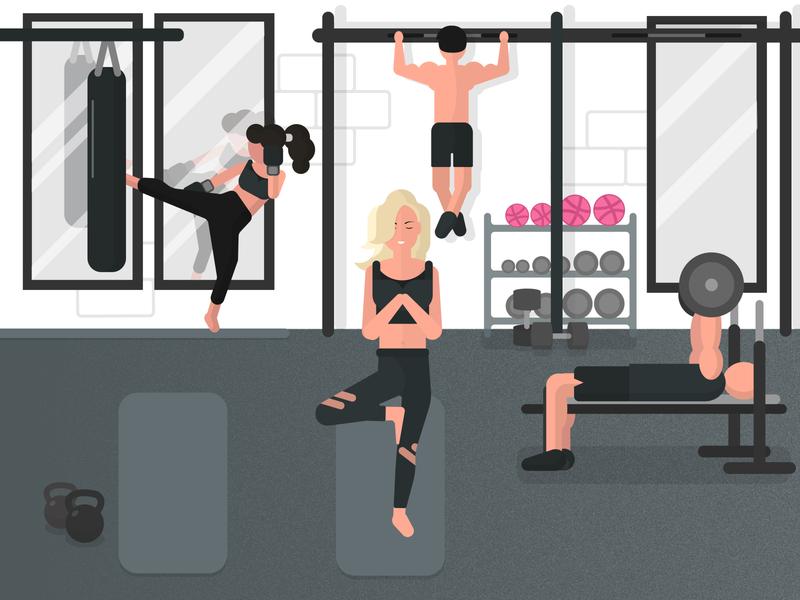 Start the Grind - Dribbble Invites avatar gym graphic design grind flat vector design art vector art minimal illustration
