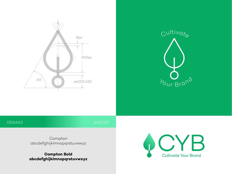 Cultivate Your Brand plant illustration tree logo cultivate grown seed plant lettering type vector design logo flat brand branding icon art vector art minimal illustration