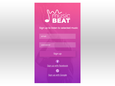 Daily Ui Day 01 - Sign up Form dailyui app ui design