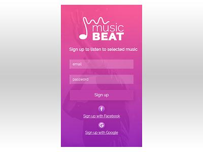 Daily Ui Day 01 - Sign up Form daily ui dailyui app ui design