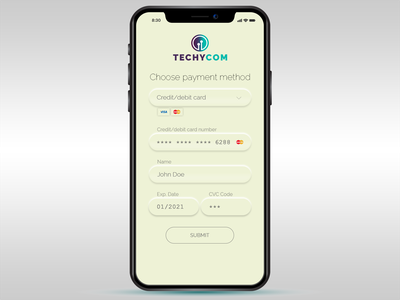 Daily Ui Day 02 - Credit Card Checkout daily ui dailyui ui design